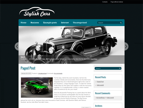StylishCars WordPress Theme
