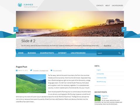 Summer WordPress Theme