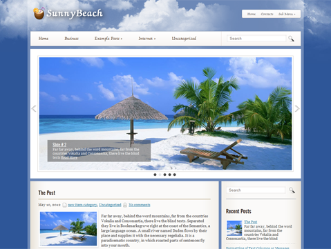 SunnyBeach Free WordPress Theme