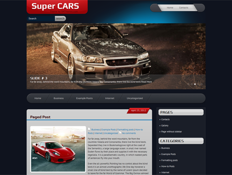 SuperCars WordPress Theme