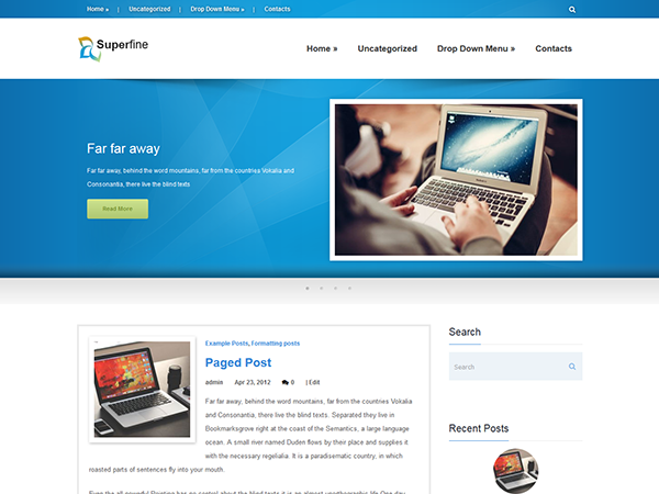 SuperFine Free WordPress Theme