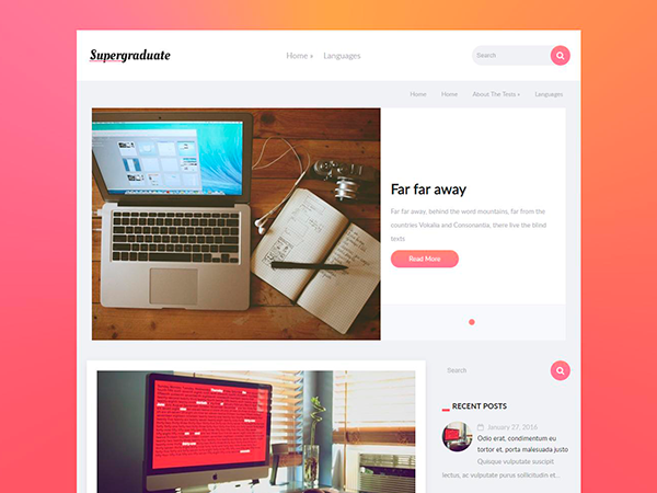 SuperGraduate WordPress Theme
