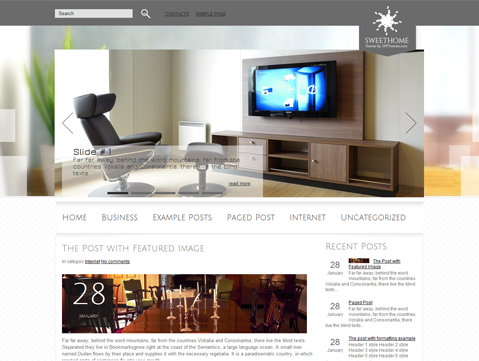 SweetHome Free WordPress Theme