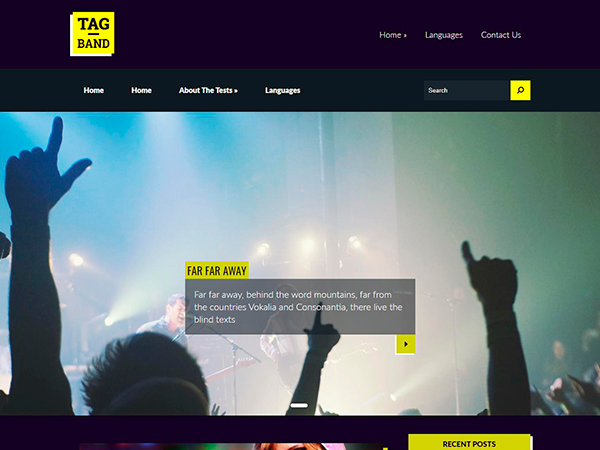 TagBand WordPress Theme