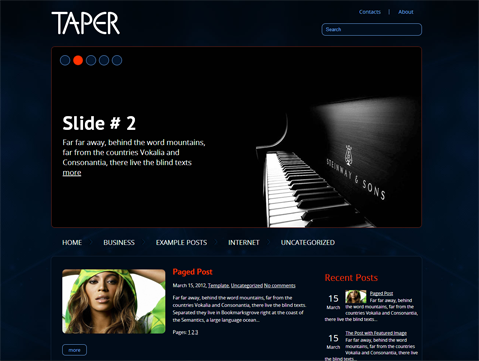 Taper Free WordPress Theme