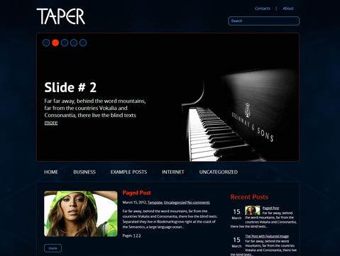 Taper WordPress Theme