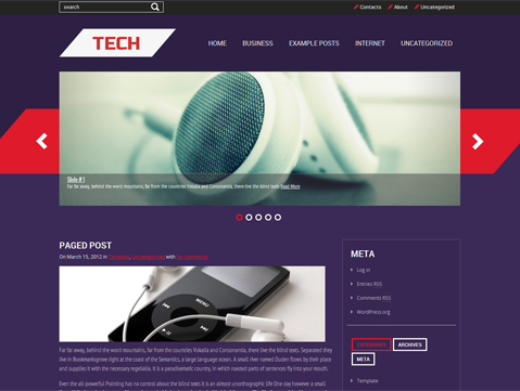 Tech Free WordPress Theme