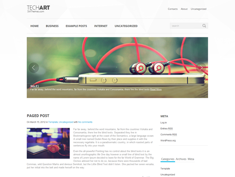 TechArt WordPress Theme