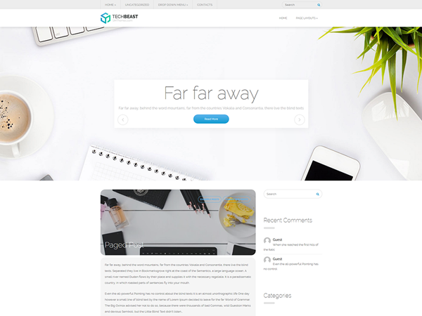 TechBeast Free WordPress Theme