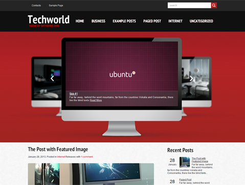 TechWorld Free WordPress Theme
