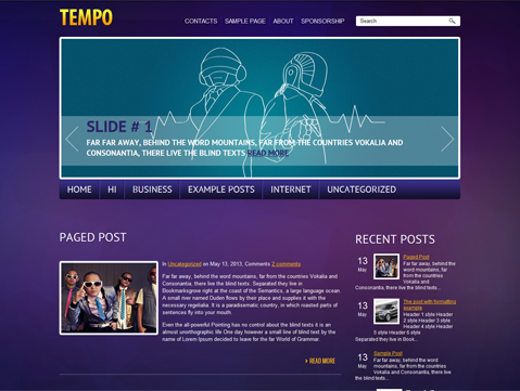 Tempo WordPress Theme