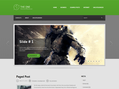 TheOne WordPress Theme