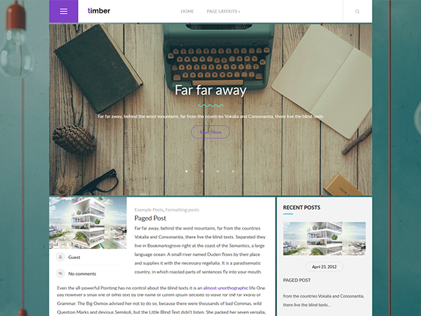 Timber Free WordPress Theme