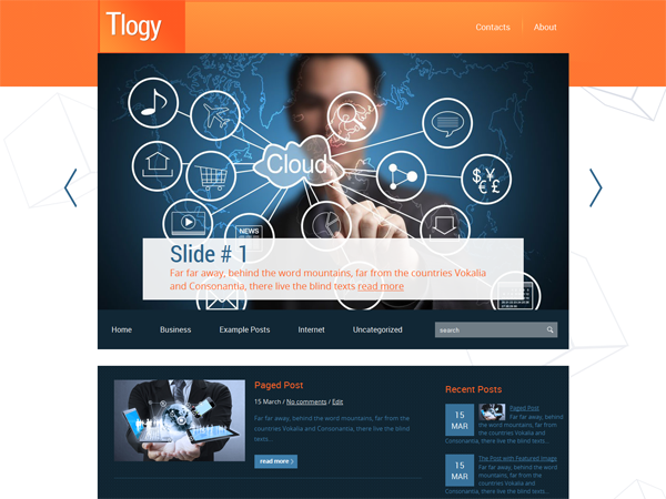 Tlogy Free WordPress Theme