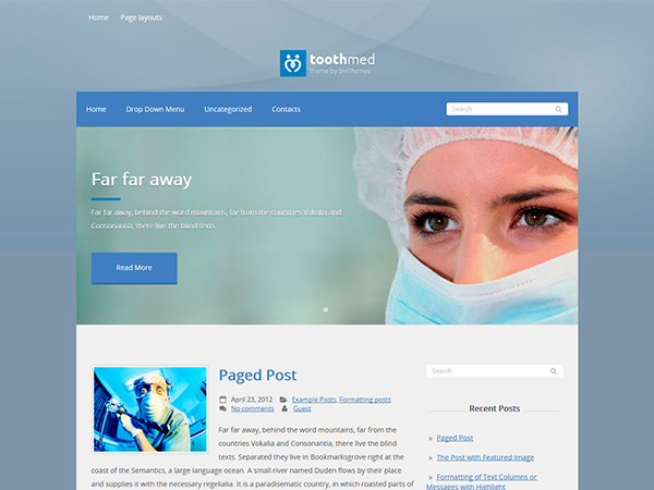 Toothmed Free WordPress Theme