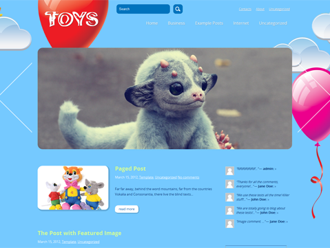 Toys Free WordPress Theme