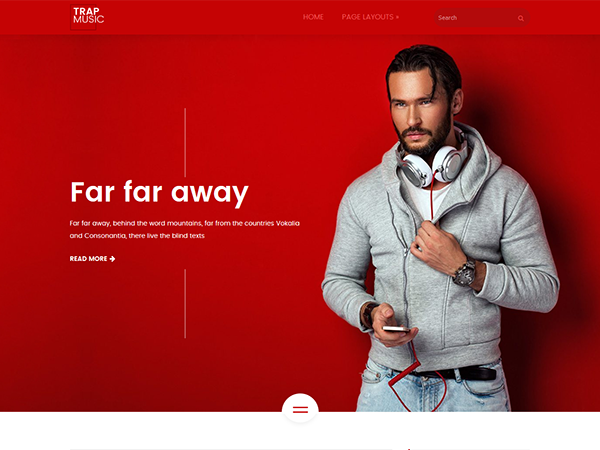 TrapMusic WordPress Theme