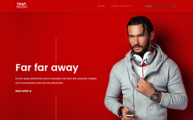 TrapMusic Free WordPress Theme