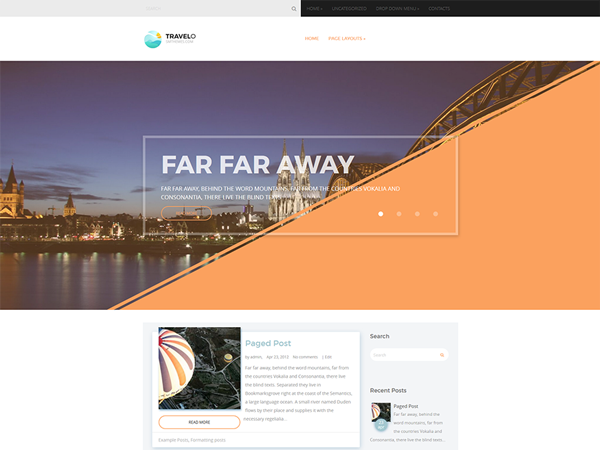 Travelo Free WordPress Theme