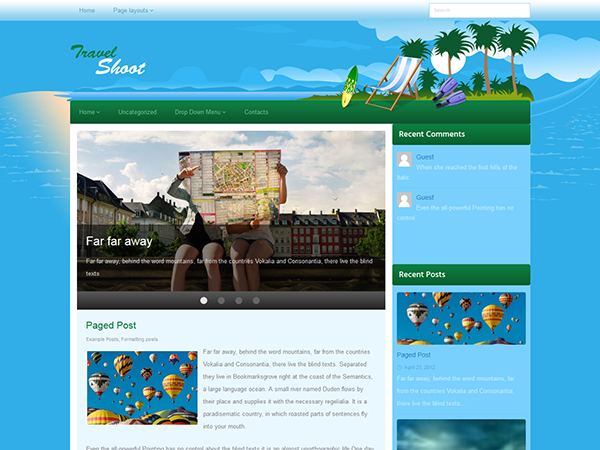 TravelShoot Free WordPress Theme
