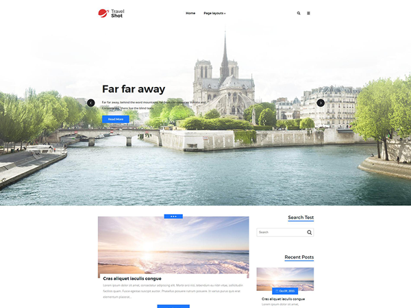 TravelShot WordPress Theme