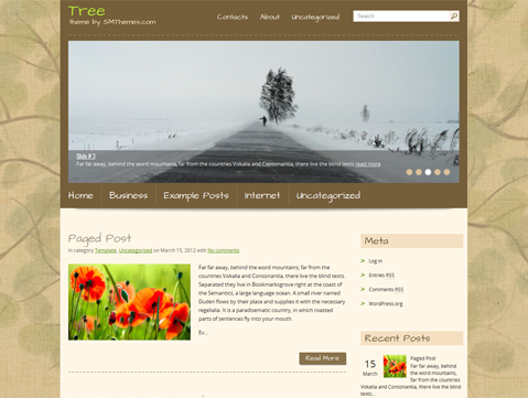 Tree Free WordPress Theme