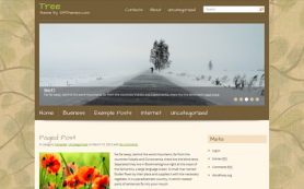 Tree Free WordPress Theme