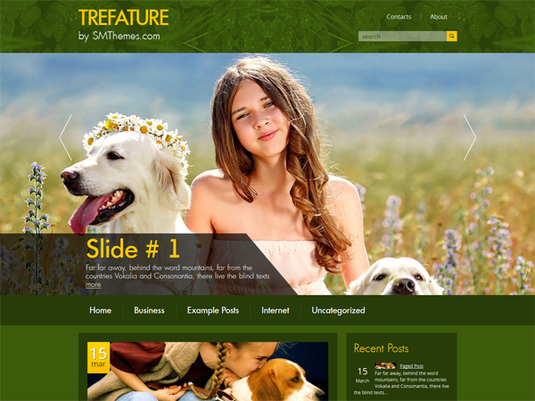 Trefature Free WordPress Theme