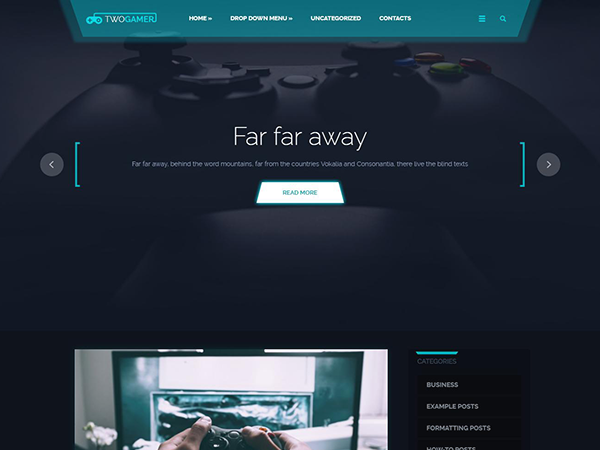 TwoGamer Free WordPress Theme