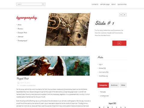 Typography Free WordPress Theme