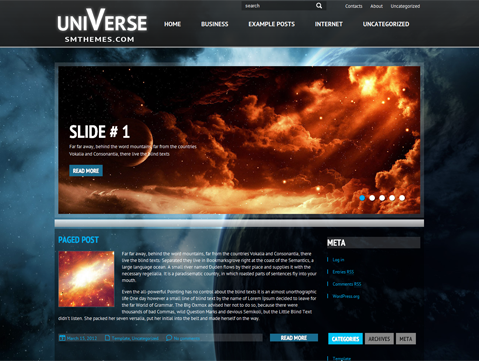 Universe Free WordPress Theme