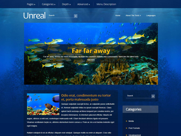 Unreal Free WordPress Theme