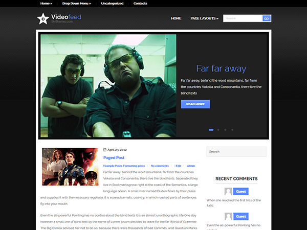VideoFeed WordPress Theme