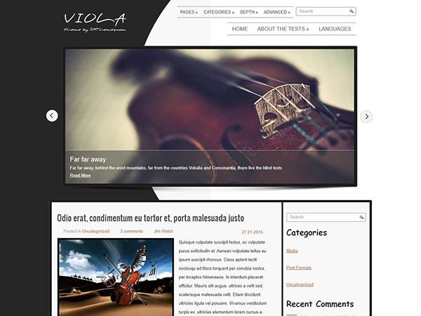 Viola Free WordPress Theme