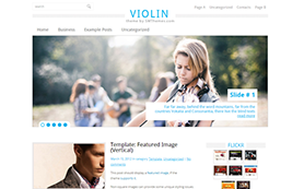 Violin Free WordPress Theme