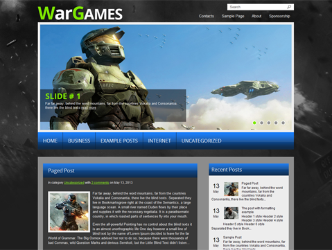 WarGame Free WordPress Theme