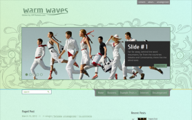 WarmWaves Free WordPress Theme