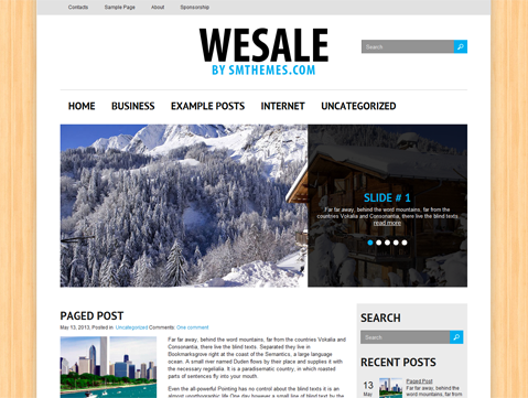 WeSale Free WordPress Theme