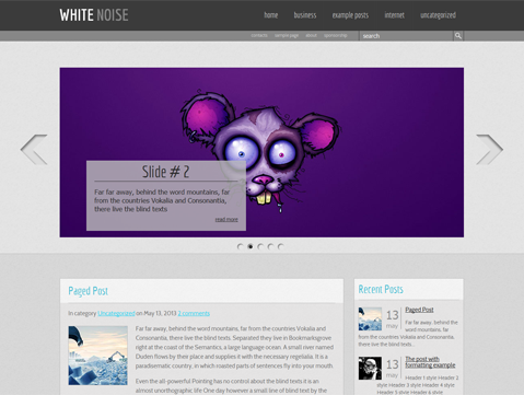 WhiteNoise Free WordPress Theme