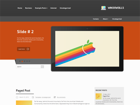 Windowsills Free WordPress Theme