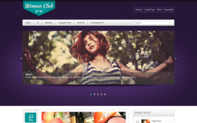 WomanClub Free WordPress Theme