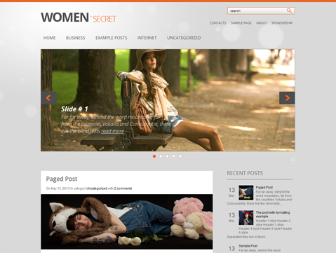 WomanSecret WordPress Theme
