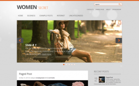 WomanSecret Free WordPress Theme