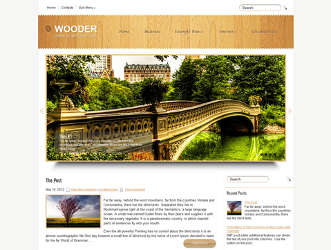 Wooder WordPress Theme