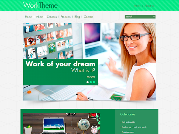 Work Free WordPress Theme