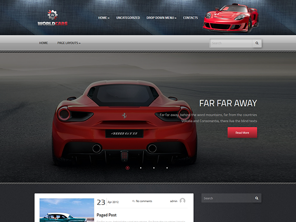 WorldCars Free WordPress Theme