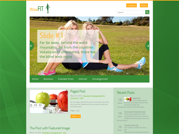 WowFit Free WordPress Theme
