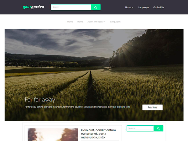 YourGarden Free WordPress Theme