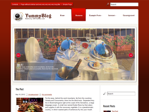 YummyBlog Free WordPress Theme
