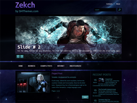 Zekch Free WordPress Theme